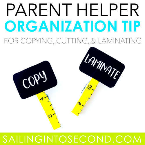 Parent Helper Organization Tip