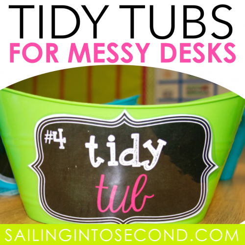 Tidy Tubs for Messy Desks
