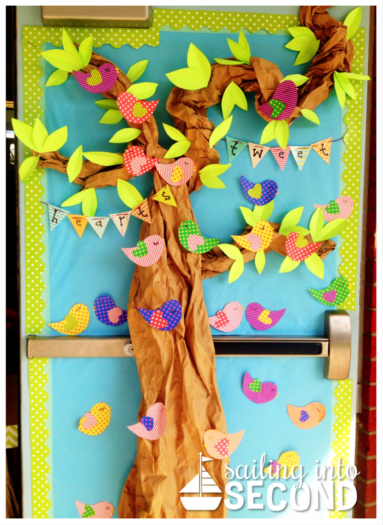 Valentine S Day Classroom Decor ~ Valentine s day door decor sailing into second