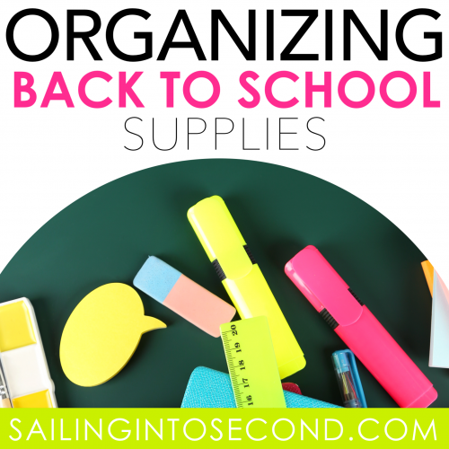 Organizing Back to School Supplies