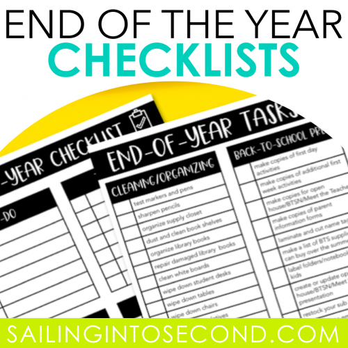 End of the Year Checklists