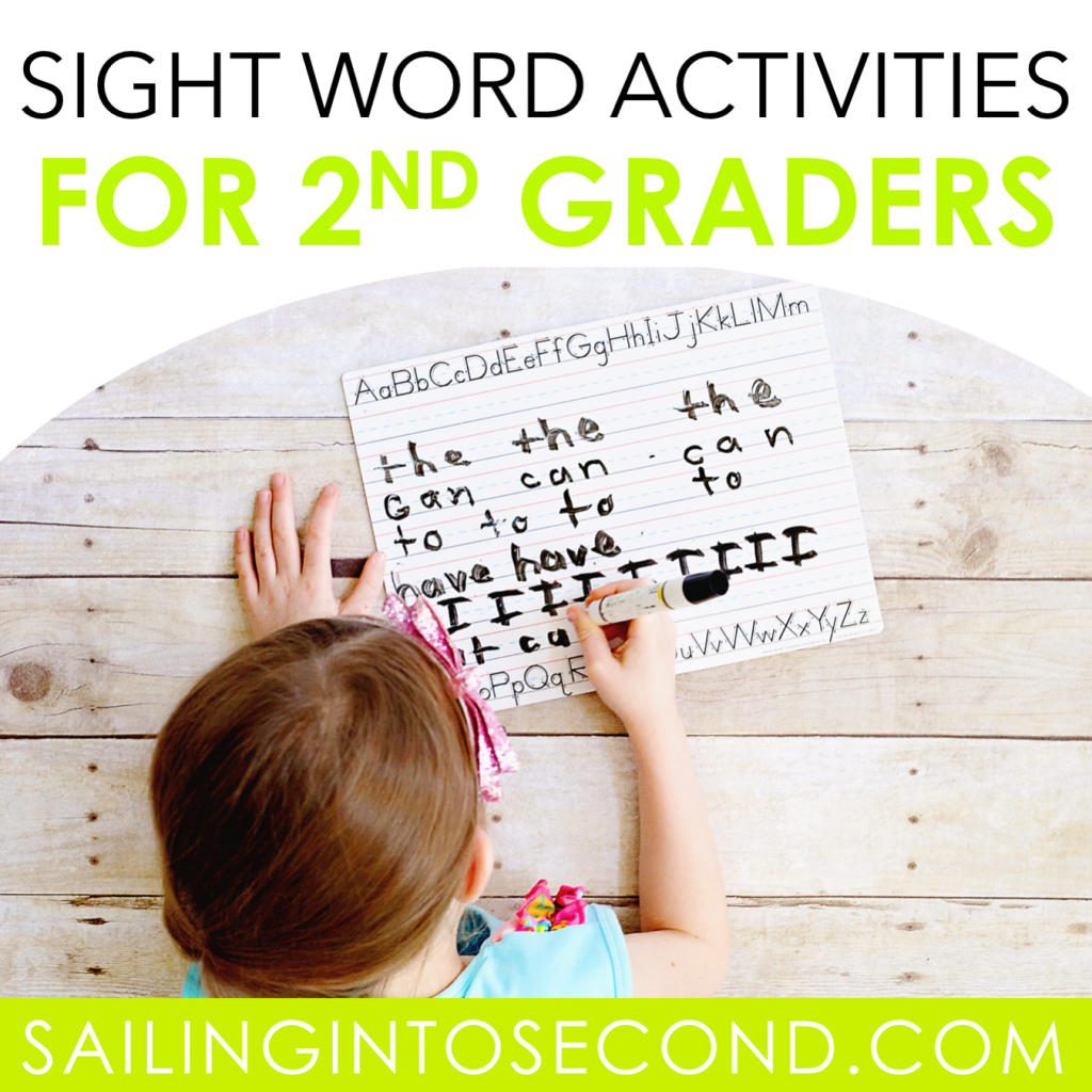 Sight Word Activities for Second Graders - Sailing into Second