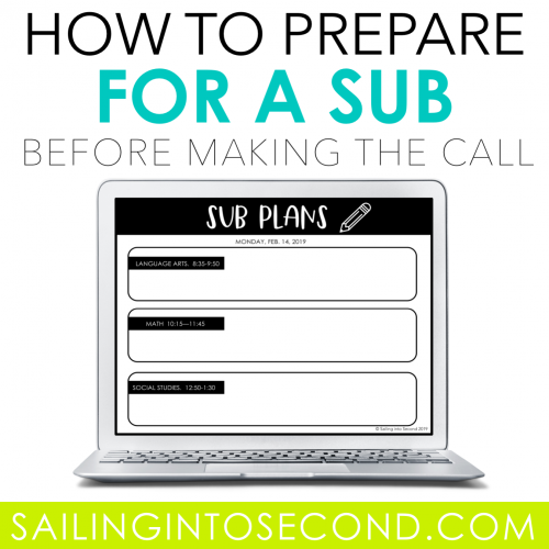 Prepare for a Sub Before You Have to Make the Call