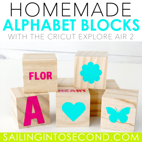 Homemade Alphabet Blocks
