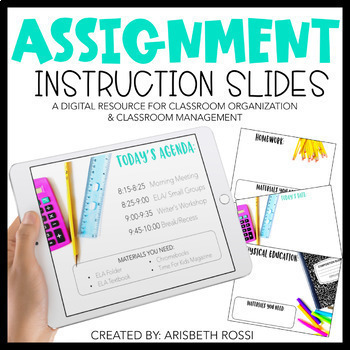 Morning Meeting | Assignment Instruction Slides | Distance Learning