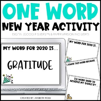 New Years 2020 | One Word Goals, Student New Year Goals